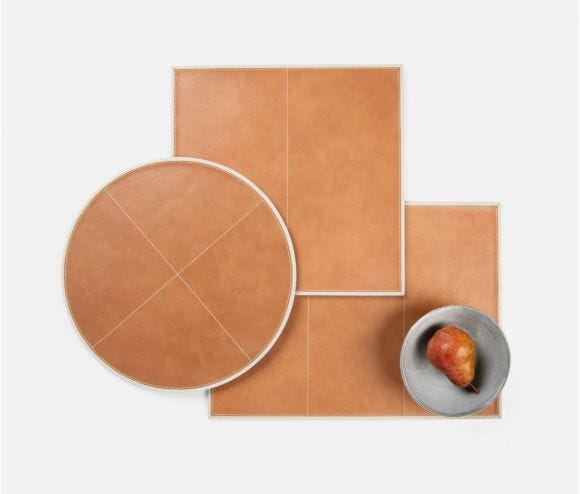 Graham Aged Camel/Light Gray Placemat