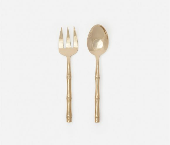 Liliana Polished Gold 2-Piece Serving Set