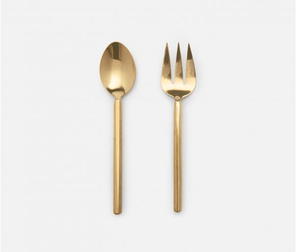 Roland Polished Gold 2-Piece Serving Set