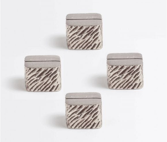 Zachary Antiqued Pewter Card Holders