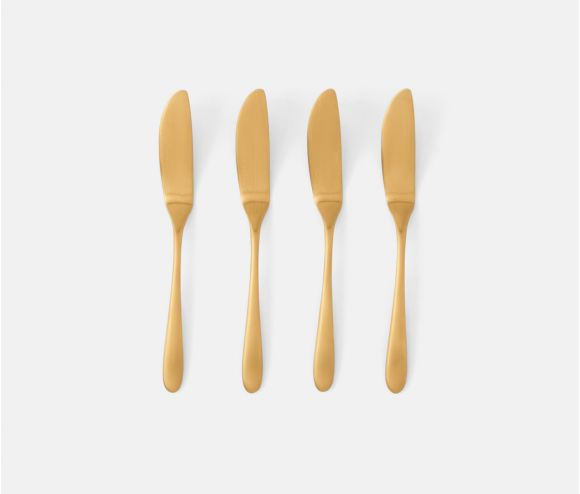 Danele Faux Bois Polished Gold 5-piece Set
