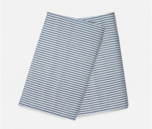 Brooks Navy Striped Kithen Towel