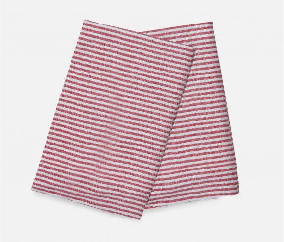 Brooks Red Striped Kithen Towel
