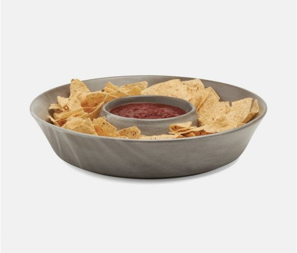 Marcus Cement Glaze Chip and Dip Bowl