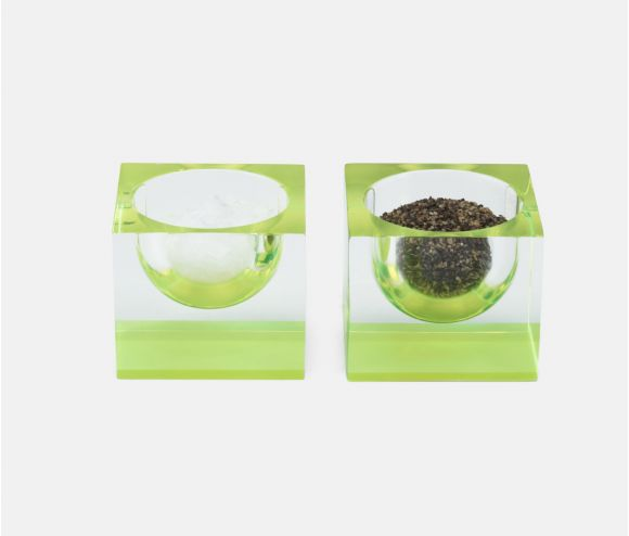Jette Clear/Chartreuse Pinch Bowls