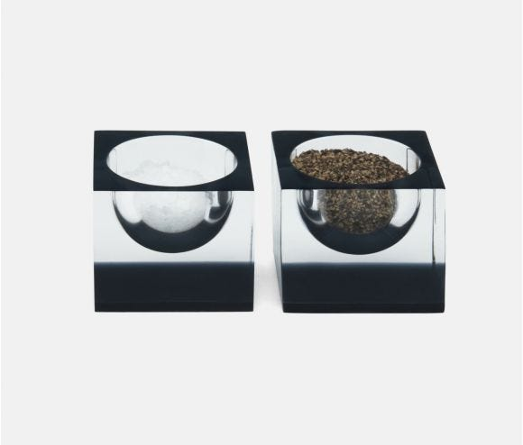Jette Clear/Gray Pinch Bowls